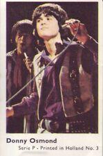 Donny Osmond Serie P Music Trading Card 1973