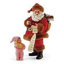 "Possible Dreams ""NEW BEST FRIEND"" Santa Giving A Child A Puppy ~ 2 Piece Set"