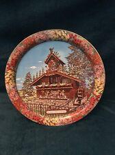 Vintage Souvenir Tray WIlmont Ohio Alpine Alpa World's Largest Cuckoo Clock Tin