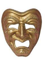Full Face Gold Tragedy Masquerade Mask Genuine Forum Novelties - New