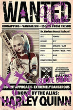 Suicide Squad Poster Wanted Harley Quinn + Powerstrips®