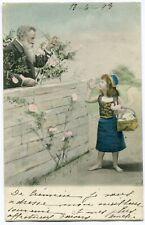 CPA - Carte Postale - Thème - Enfant - Petite Fille et Vieil Homme - 1903 (I1000