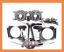 For 16 17 18 19 Nissan Titan Fog Lights Clear Wiring Switch Kit Bumper bezels