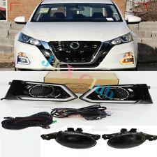 For Nissan Altima 19-20 LED Daytime Running Light DRL+LED Fog Light wiring o Set