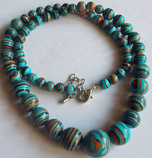 "Beautiful! 6-14mm multicolor Turkey Turquoise Beads Necklace 18"" AAA"