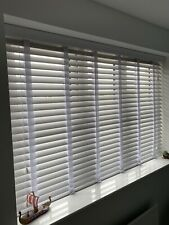 Luxury White Faux Wood 50mm Venetian Blinds With Tapes - 2 Available