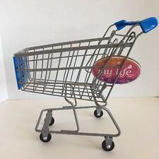 "18"" Doll Size Rolling Grocery Shopping Cart Walmart My Life As Girl Dolls New"