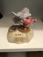 Ron Lee figurine 1991 Tu-tu-phant Rare ballerina elephant and mouse