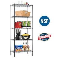 5-Wire Shelving Unit Steel Large Metal Shelf Organizer Garage Storage Shelves