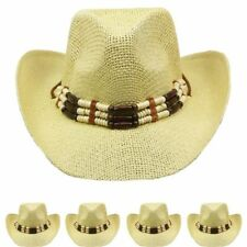 COWBOY HAT Western Shape able BLACK HAT Cowgirl Raffia Cap MEN WOMEN