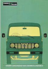 Leyland Freight Rover Sherpa 200/230/250 Van Crewbus Minibus 81-82 Brochure FR3
