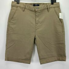 7 For All Mankind Mens Flat Front Chino Shorts Khaki 36