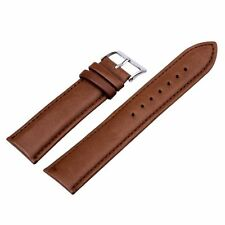 Black Brown Genuine Leather Watch Band Strap Bracelet Womens Mens Size 10-24mm