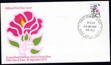 1970 6c Sturt's Desert Rose Flower Coil Stamp Australia FDC Unaddressed