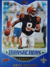 NFL 201 Jeff Blake New Orleans Saints Topps 2000 Transactions