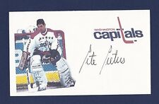 Pete Peters signed Washington Capitals hockey index card