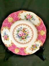 Royal Albert Lady Carlyle Bread & Butter Plate, Pink Roses, Gold Trim, Mint