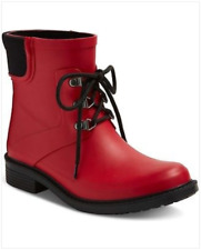 Merona Briley Women's Ankle Rain Boots / Booties  |  Red  | Size 8
