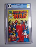 Infinity War 1 CGC 9.8 White Pages 1992 Marvel Comics Avengers Starlin NM/MT