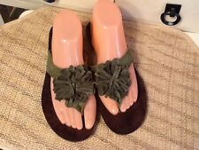 Women's FLY FLOT Sandals Shoes Flip Flop thong  olive geen 39 US 8.5 M - Italy