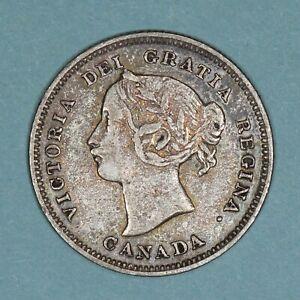 1892 Canada 5 Cents silver coin, VF, KM# 2