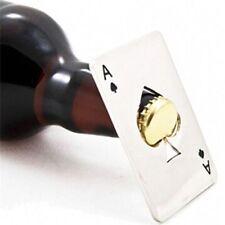 1 Pc Cute Steel Poker Card Beer Cap Opener Soda Bottle Bar Opener Fashion