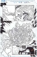 GHOST RIDER (2019) # 1 AARON KUDER ORIGINAL ART SPLASH Insane Detail