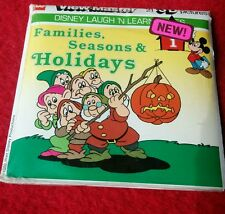 Disney Laugh&Learn #1 Families, Seasons & Holidays for View Master SEALED NOS K6