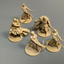 5PCS Warriors Zombicide Black Plague Miniatures Board Game Role-Playing Figures