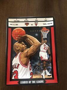 Upper deck Michael Jordan Leader of the League Collector Plate Plaque Bulls