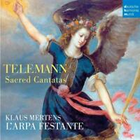 L'ARPA FESTANTE/KLAUS MERTENS - SACRED CANTATAS   CD NEW+ TELEMANN,GEORG PHILIPP