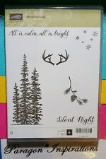 NEW Stampin Up WONDERLAND Pine Tree Deer Antlers Snow Winter NUM
