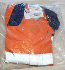 Can't Tear Em Workwear 01046 Orange Navy Coverall + Reflect Size 102R
