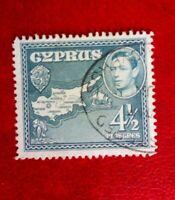 CYPRUS KING GEORGE V1 POSTAGE STAMP 4 1/2 pia USED