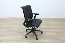 Steelcase Think Black Leather fice Task Chairs