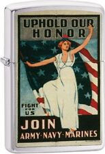Zippo Windproof Vintage Military War Poster Lighter, 29599,  New In Box