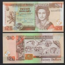 Belize: P#69 20 Belize Dollars Uncirculated Banknote. Dated 01.01.2017.