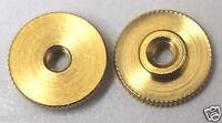 "Small Brass Insignia Screw Back Nut 1/2"" inch 40 thread per inch Lot of  24"
