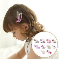 Baby Unicorn Glittering Hairpin Girl Floral  Headwear Cartoon Sequins Hair Clip