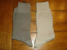 2 Pair Stafford Dress Sock Size 11.5 Made Usa Cotton Anklet Nylon Reinforced