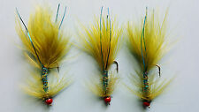 3 X RED HEAD BLUE DAMSEL SIZE 12 LONG SHANK LURES (GH67)