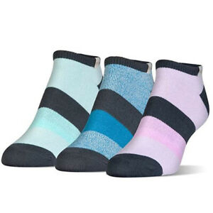 Under Armour Women`s UA Essential Comfort No Show Socks 3-Pack, Assorted, M