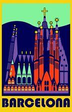BARCELONA Beautiful - Vintage Retro Travel & Railways Poster Print - A3 #3