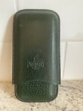 Pheasant by R.D.Gomez Green Leather Cigar Case Triple Carry
