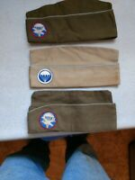 Authentic WWII  AIRBORNE DIVISION US PARATROOPER one hat with patch on it .