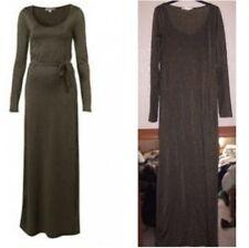 Topshop Kate Moss Black Gold Metallic Shimmer Lurex Maxi Dress - Size 8