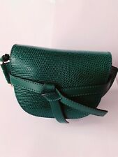 LOEWE Gate Mini LIZARD Bag green