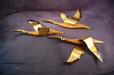 Vintage Masketeers Ducks Wood Brass Wall Art Mid Century Modern Free Shipping