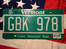 VERMONT license licence plate plates USA NUMBER AMERICAN REGISTRATION
