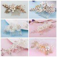 Crystal Flower Hair Comb Hair Clip Pin Headdress Wedding Bridal Hair Accessories